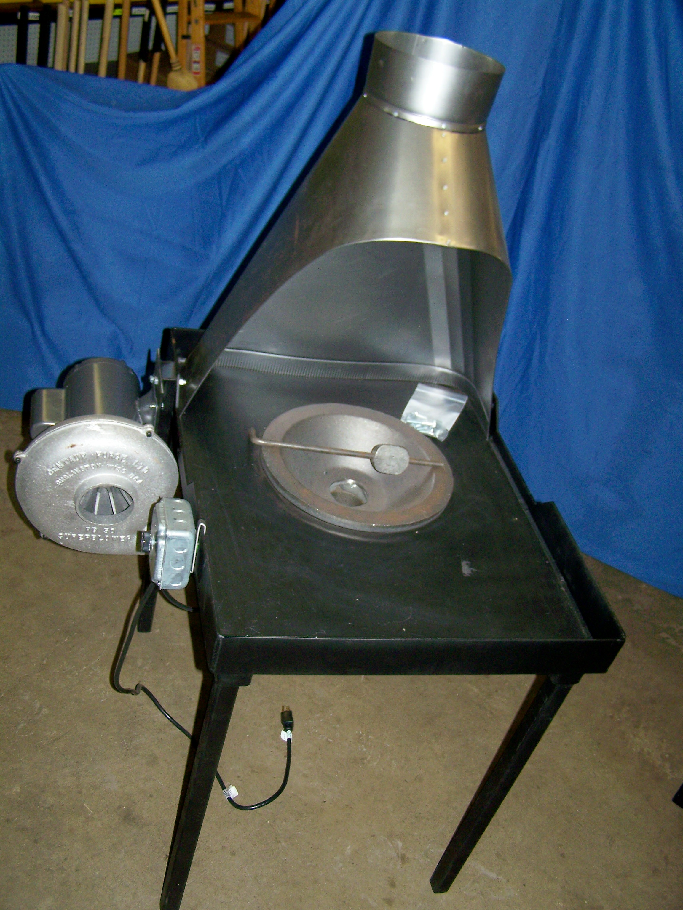 Centaur C37 Floor Model Coal Forge, Coke Firepot, Blower & Hood - Eligible for Free Shipping. See Home Page for details