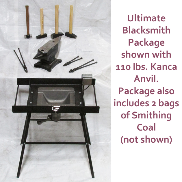 Ultimate Blacksmith Package with 165 lbs. Kanca Anvil