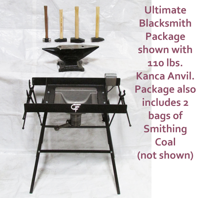 Ultimate Blacksmith Package with 110 lbs. Kanca Anvil