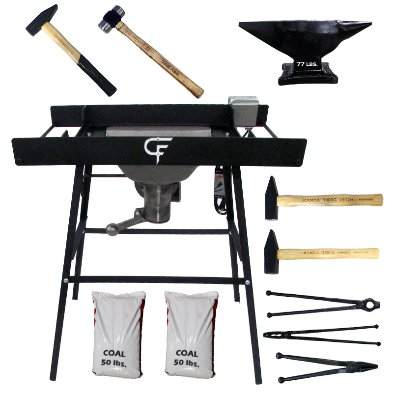 Ultimate Blacksmith Package with 77 lbs. Kanca Anvil